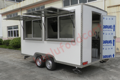 Manufacture customized fast food truck for sale bakery food cart trailer for sale