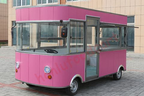 Most popular design food cart price Philippines mobile kitchen car corn dog cart