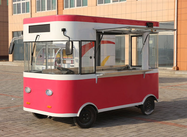 High quality steamed corn catering hot dog cart/desserts food trailer mobile van with crepes and waffles