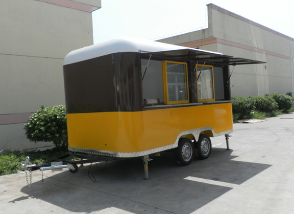2017 New arrival street food vending cart Chinese food truck freezer mobile food caravan