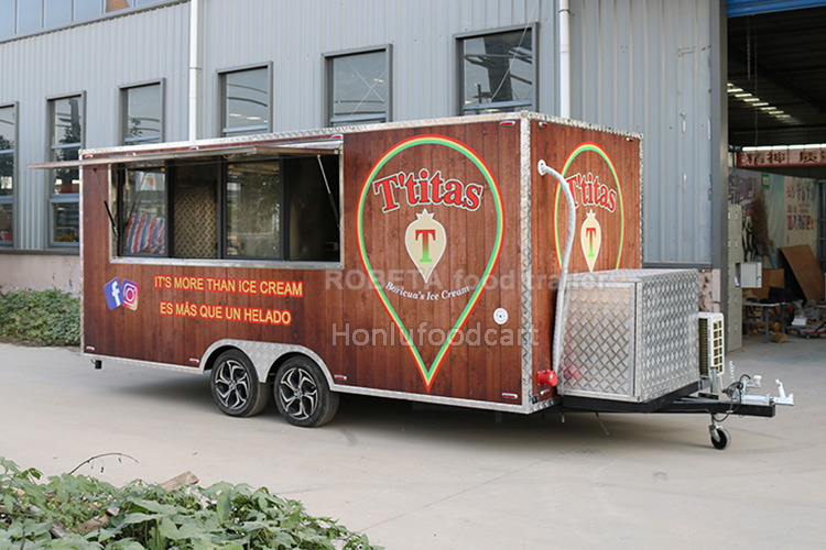 China mobile bar beer catering fast food trailer used mobile food truck for sale ice cream truck bbq coffee shop